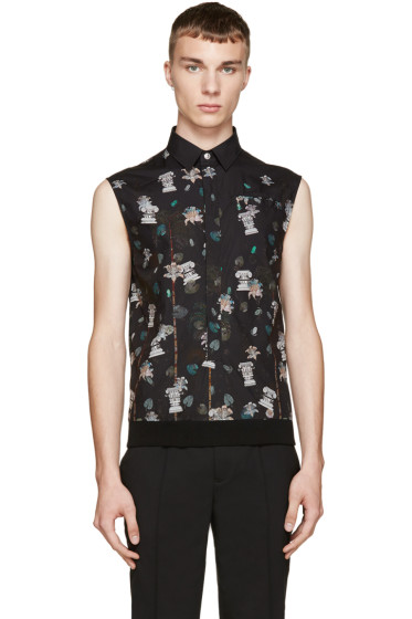 Versus - Black Floral Hybrid Anthony Vaccarello Edition Shirt