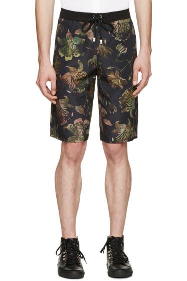 Versus - Multicolor Floral Print Anthony Vaccarello Edition Swim Shorts