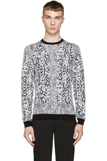 Versus - Black & White Patterned Anthony Vaccarello Edition Sweater