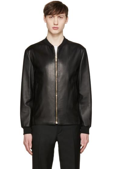 Versace - Black Lambskin Bomber Jacket