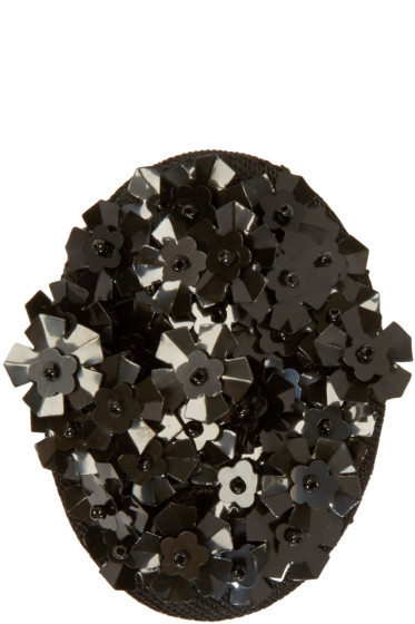 Simone Rocha - Black Beaded Cluster Brooch