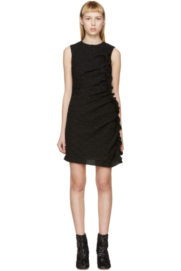 Simone Rocha - Black Organza Ruffled Dress