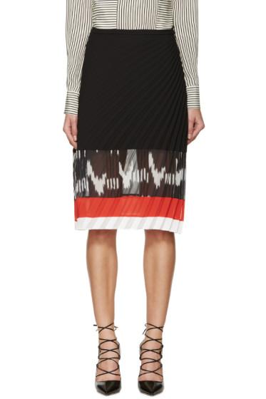 Altuzarra - Black Diagonal Pleat Camille Skirt