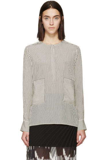 Altuzarra - Cream & Black Silk Carnegie Shirt