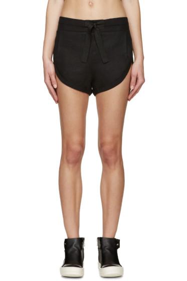 Denis Gagnon - SSENSE Exclusive Black Linen Shorts
