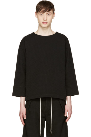 Sasquatchfabrix - Black Textured Sashiko Top