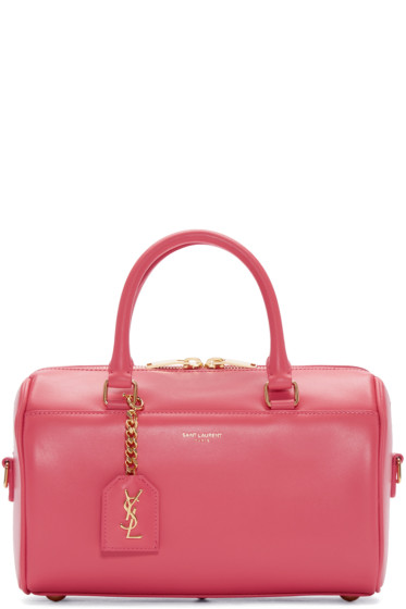 Saint Laurent - Pink Leather Baby Duffle Bag