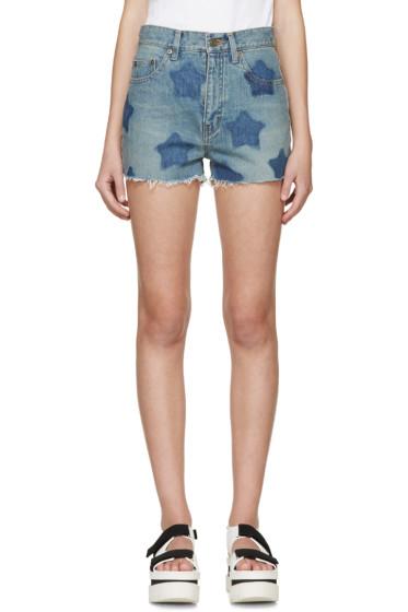 Saint Laurent - Blue Star Denim Shorts