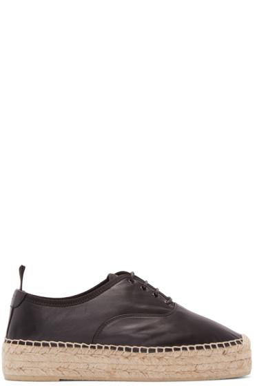 Saint Laurent - Black Leather Sneaker Espadrilles
