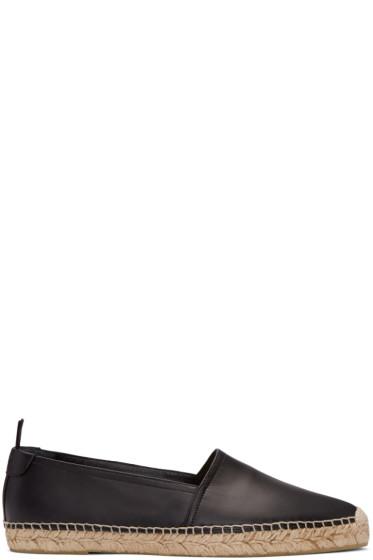 Saint Laurent - Black Leather Espadrilles