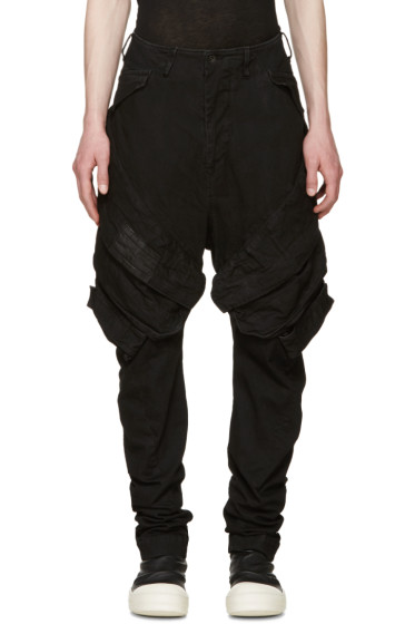 Julius - Black Denim Cargo Trousers