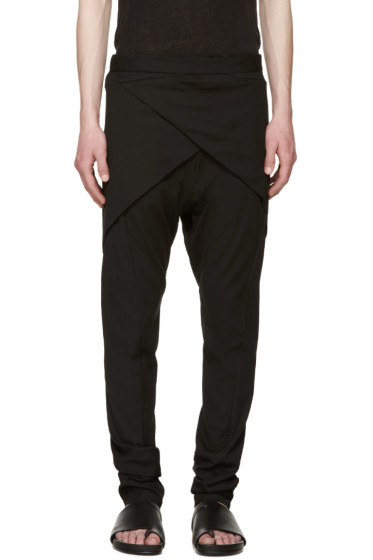 Julius - Black Wrap Trousers