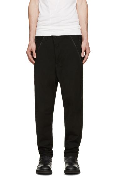 Julius - Black Twill Harem Jeans