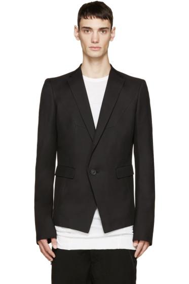 Julius - Black Single-Button Blazer