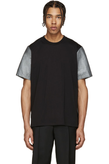 PS by Paul Smith - Black & Silver Panelled T-Shirt