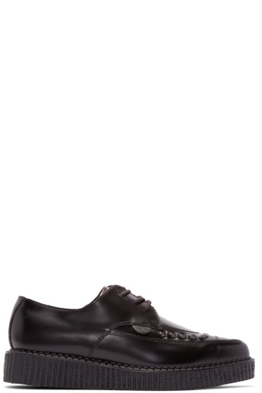 Underground - Black Leather Barfly Creepers