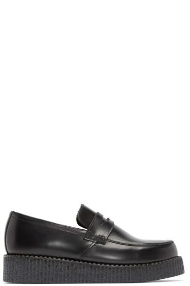 Underground - Black Leather Whitworth Loafers