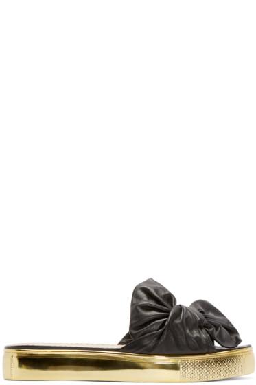 Charlotte Olympia - Black Poolside Slider Sandals