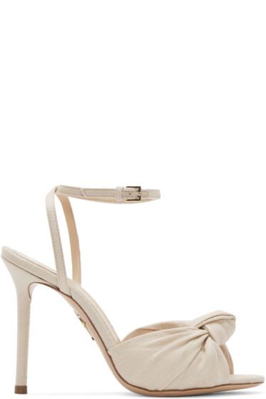 Charlotte Olympia - Beige Izzy Heeled Sandals