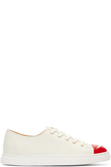 Charlotte Olympia - Cream Low-Top Kiss Me Sneakers