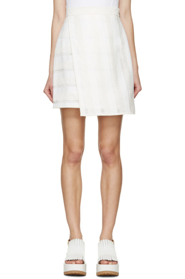 MSGM - White Raffia Wrap Skirt