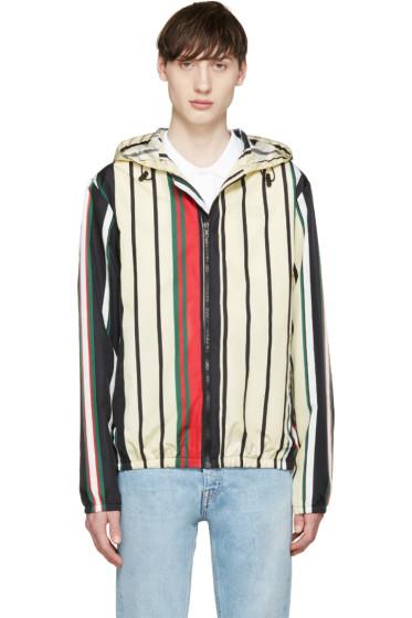 MSGM - Multicolor Striped Windbreaker Jacket