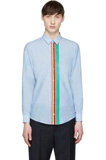 MSGM - Blue Stripe Front Shirt