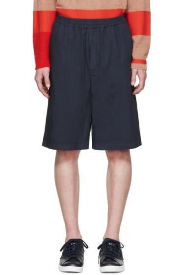 MSGM - Navy Poplin Shorts