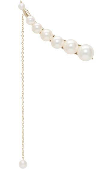 Sacai - Gold & Pearl Sophie Bille Brahe Edition Single Earring