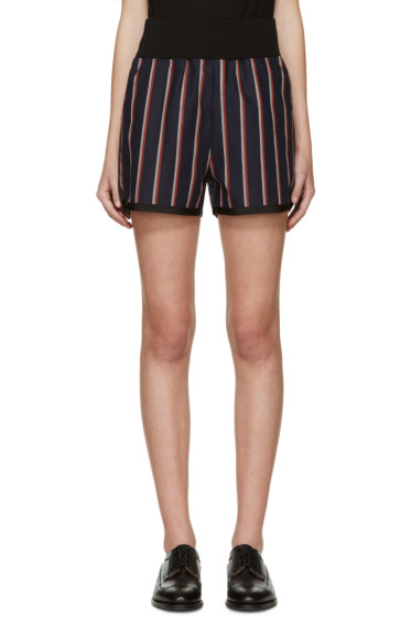 Sacai - Blue Stripe Shorts