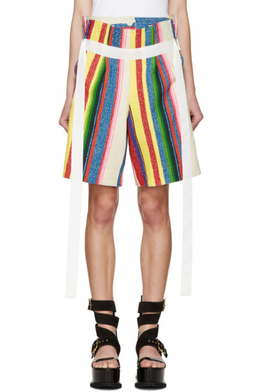 Sacai - Multicolor Striped Shorts