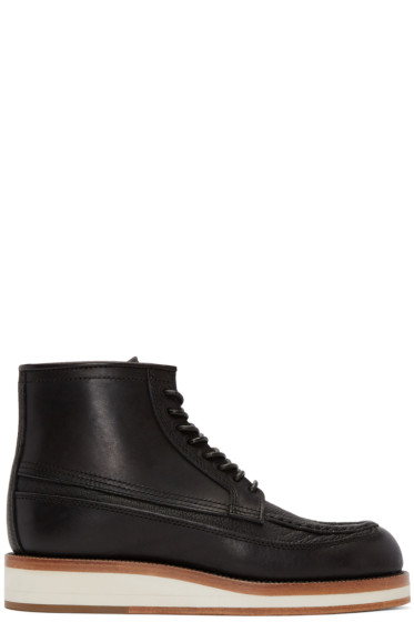 Sacai - Black Leather Hender Scheme Edition Boots
