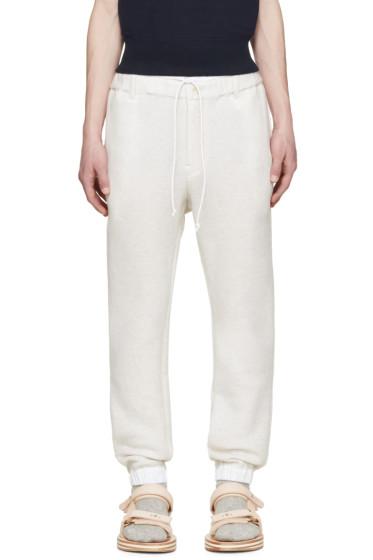 Sacai - Beige Bonded Jersey Lounge Pants