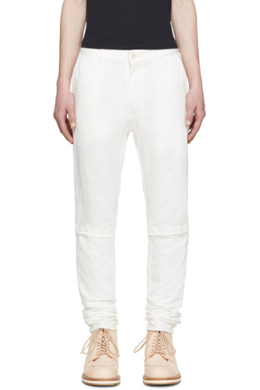 Sacai - White Denim Trousers