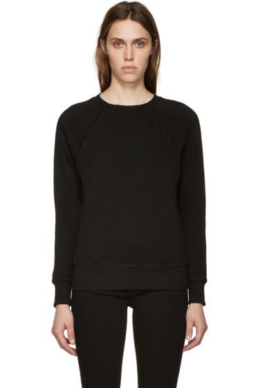 Frame Denim - Black Le Varsity Sweatshirt