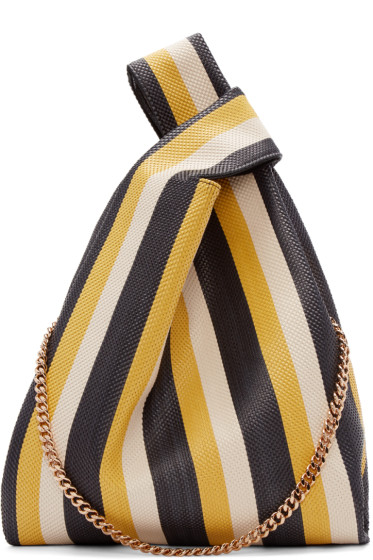 Stella McCartney - Multicolor Striped Large Woven Tote