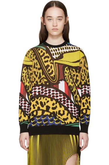 Stella McCartney - Multicolor Brush Stroke Sweater