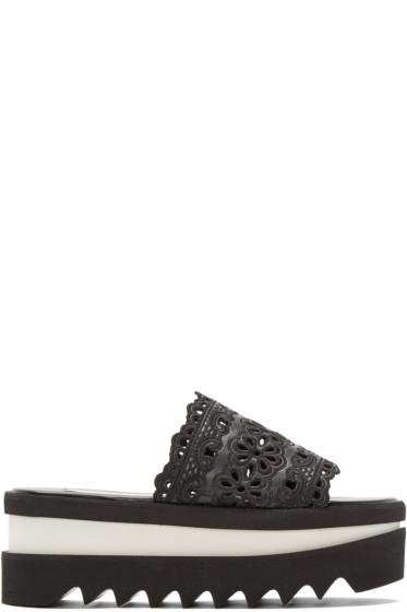 Stella McCartney - Black Lace Platform Sandals