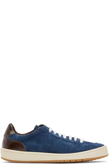 Umit Benan - Navy Suede Sneakers