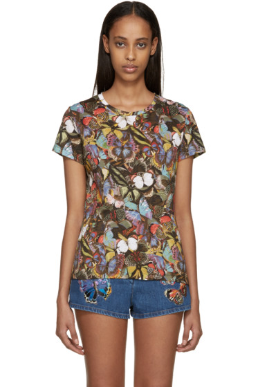 Valentino - Multicolor Butterfly T-Shirt