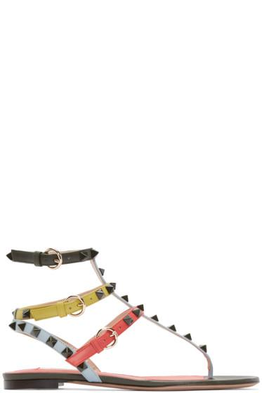 Valentino - Multicolor Rockstud Cage Sandals