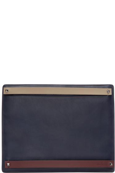 Valentino - Navy Multi-Strap Document Holder