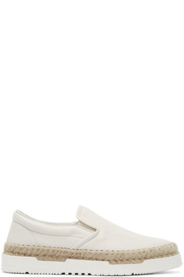 Valentino - Ivory Leather Espadrilles