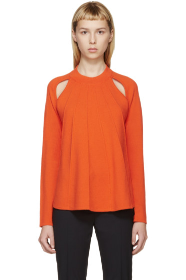 J.W.Anderson - Orange Merino Flared Sweater