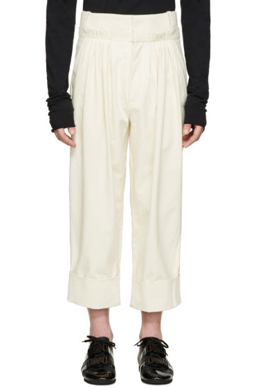 J.W.Anderson - Off-White Pleated Wide-Leg Trousers