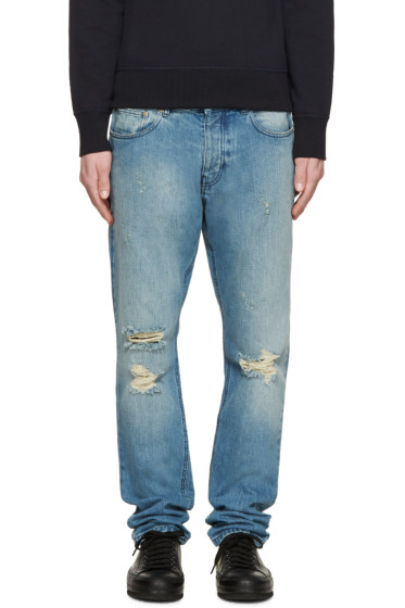 AMI Alexandre Mattiussi - Blue Destroyed Jeans
