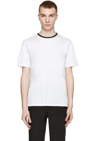 AMI Alexandre Mattiussi - White Contrast Collar T-Shirt