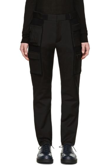 Calvin Klein Collection - Black Velcro Cargo Trousers