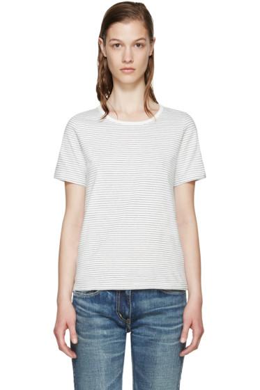 Visvim - White Border Striped T-Shirt