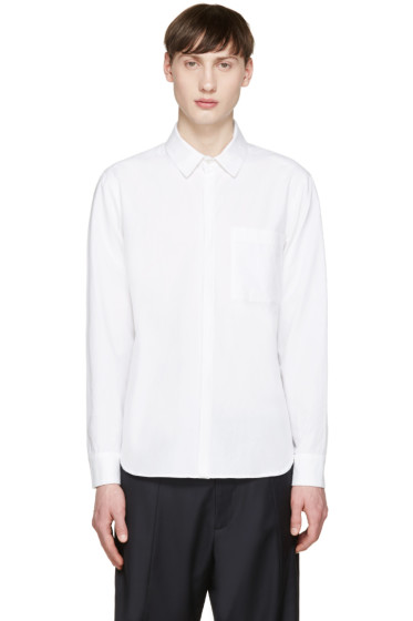Tim Coppens - White Poplin Layered Shirt